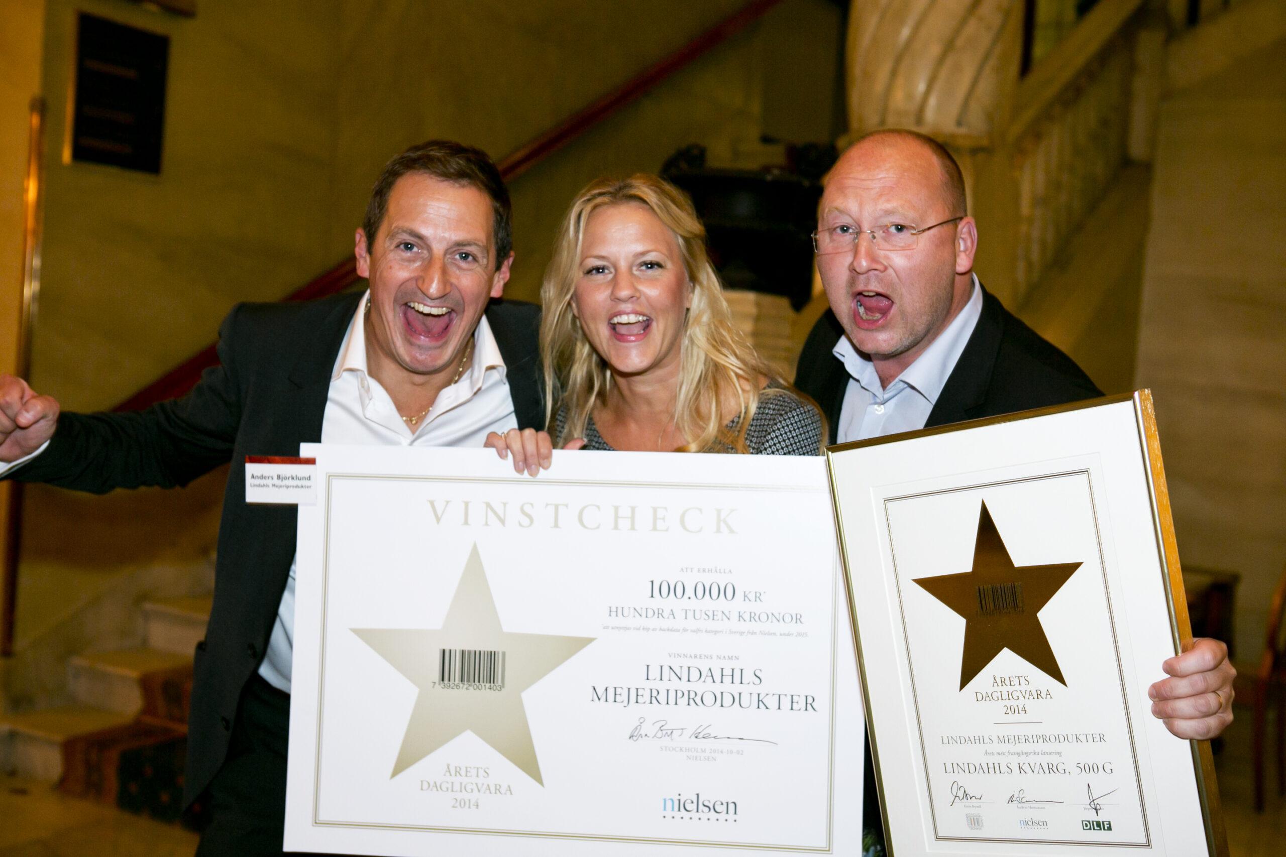 Vinnare Årets Dagligvara 2014 - Lindahls mejeriprodukter